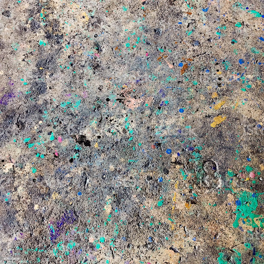 Dirty paint mess floor background stock photo