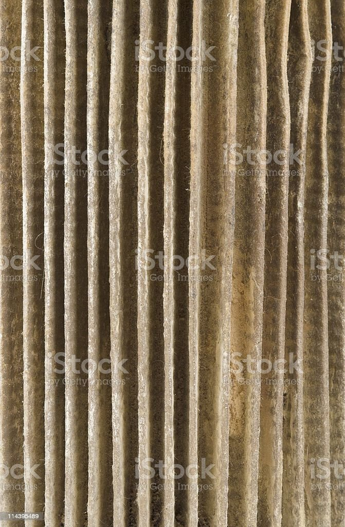 Dirty Paper Filter Element stock photo