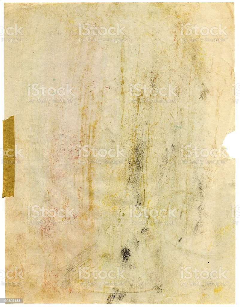 Dirty Paper royalty-free stock photo