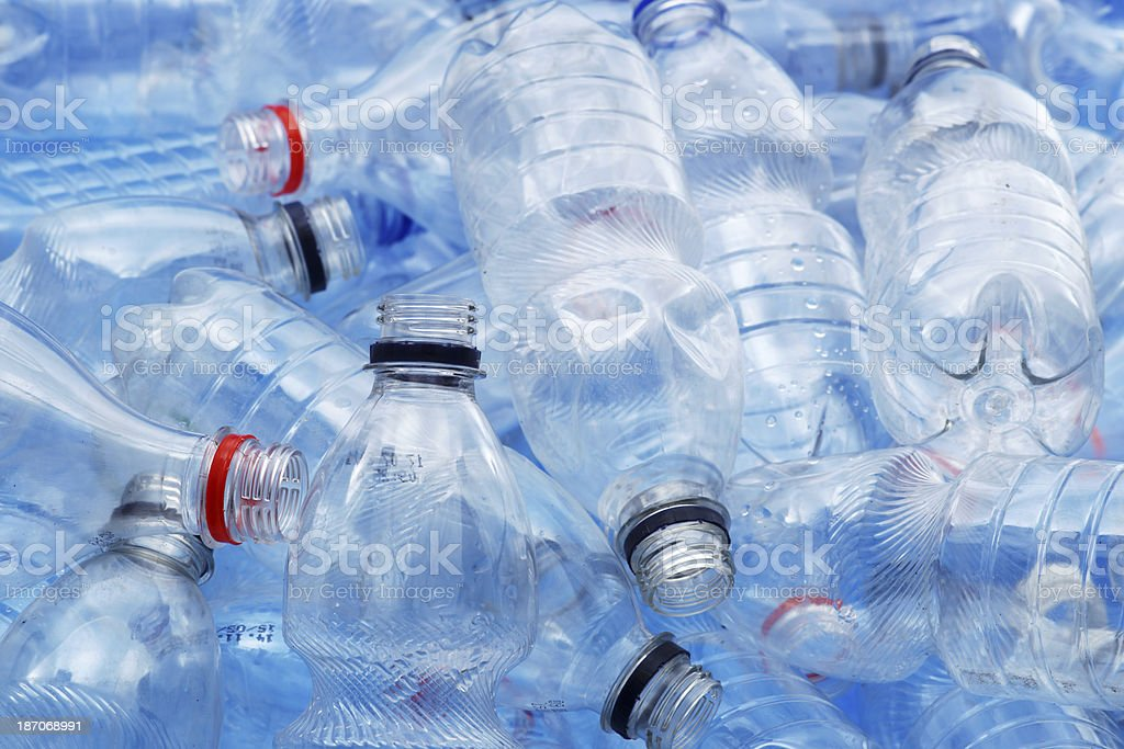 Dirty plastic bottles royalty-free stock photo