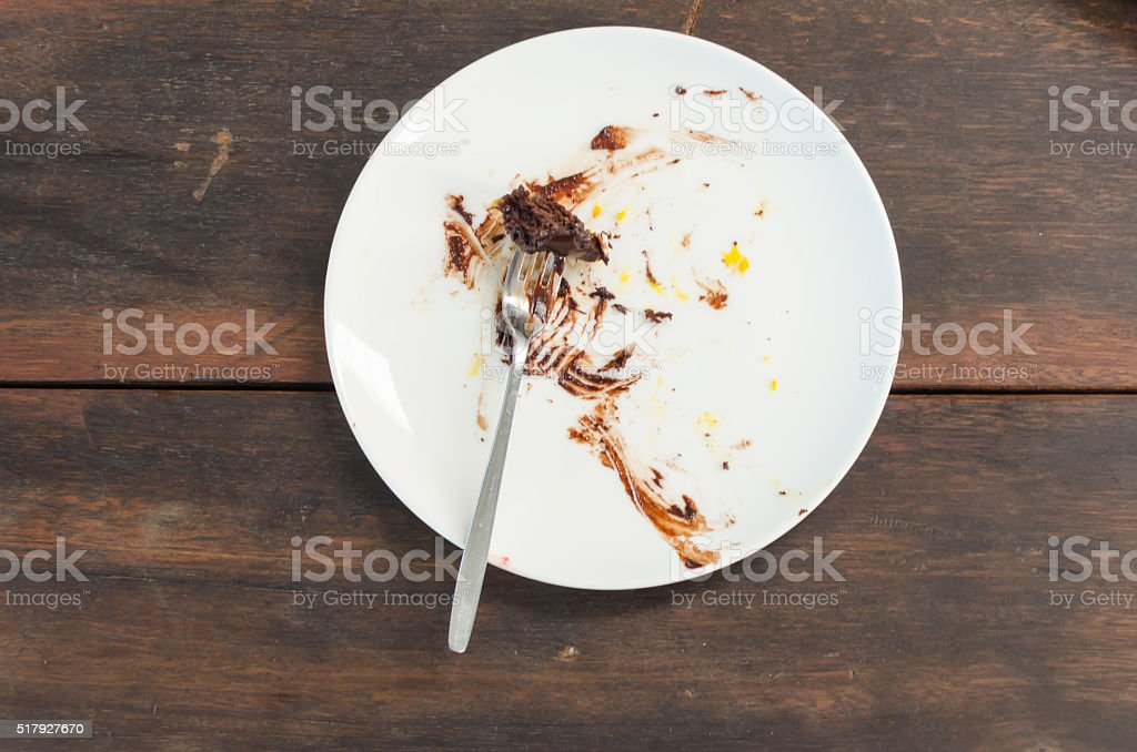 dirty plate stock photo