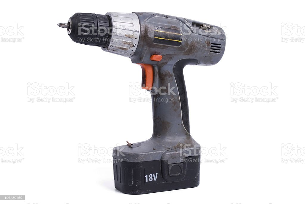 Dirty power drill #1 royalty-free stock photo