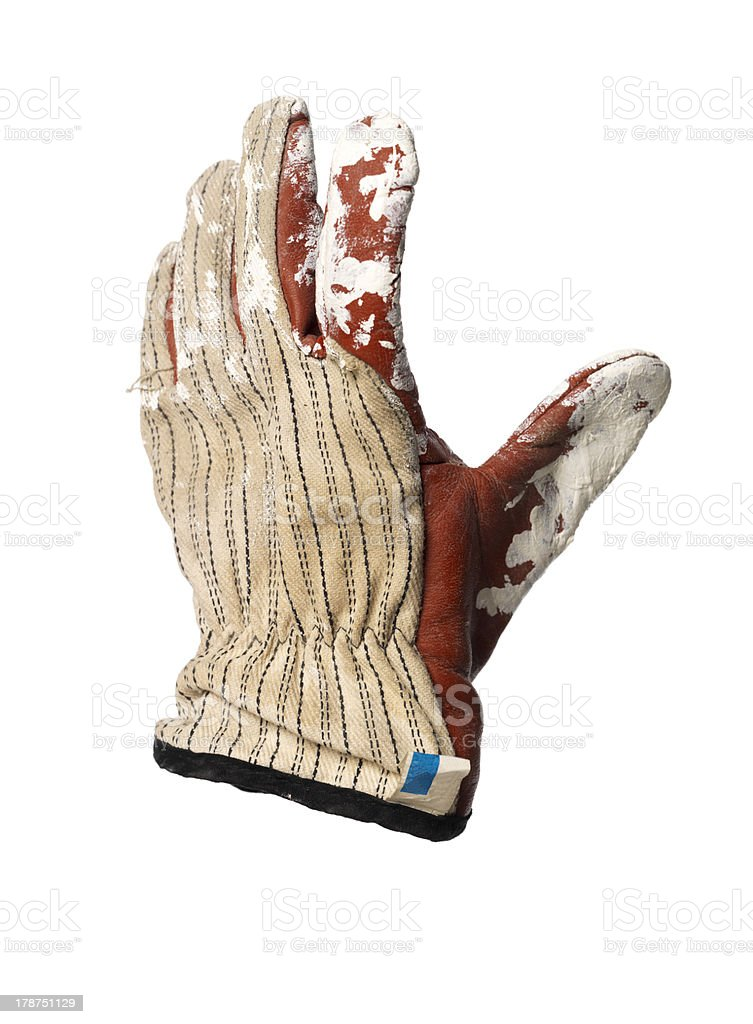 Dirty protection glove stock photo