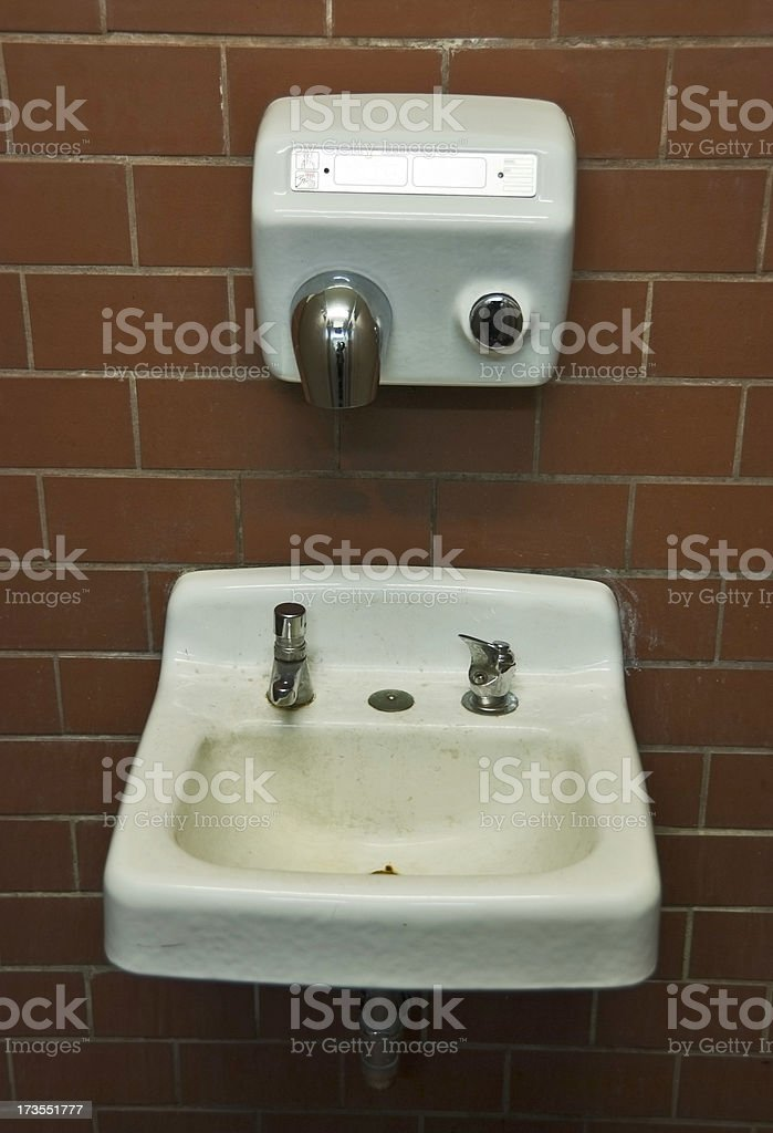 Dirty Public Bathroom stock photo