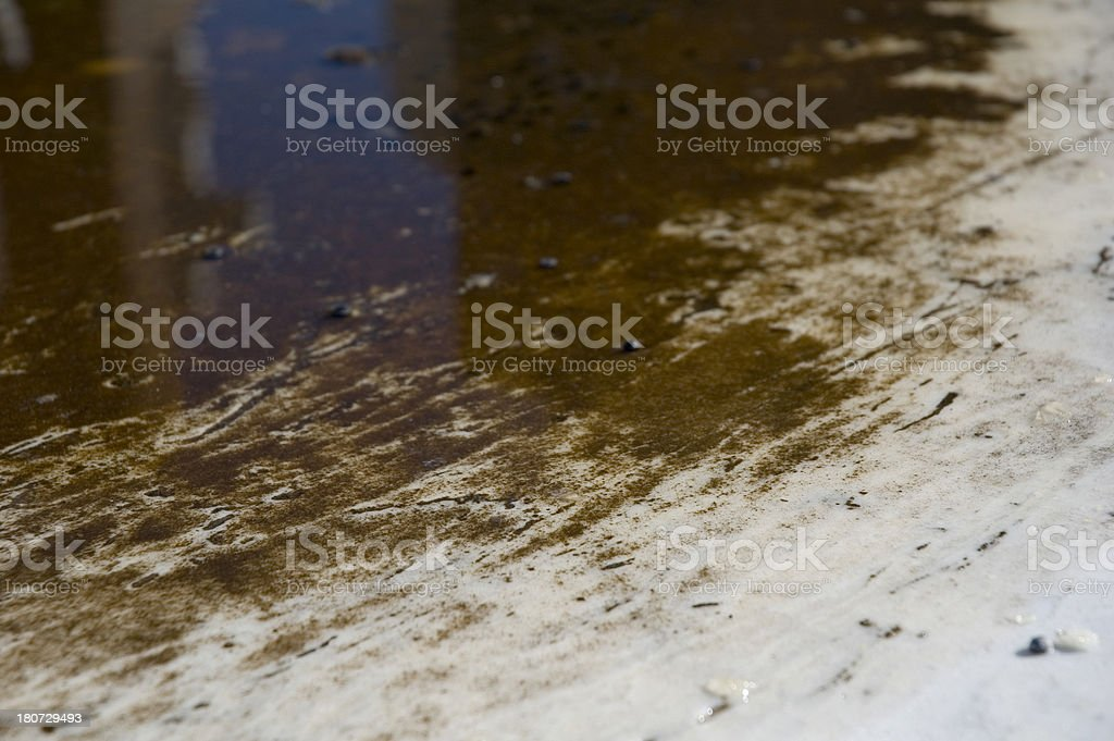 Dirty puddle royalty-free stock photo