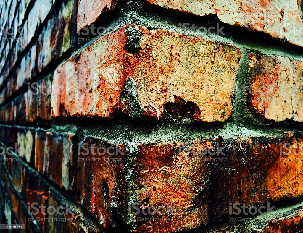 Dirty red brick wall royalty-free stock photo