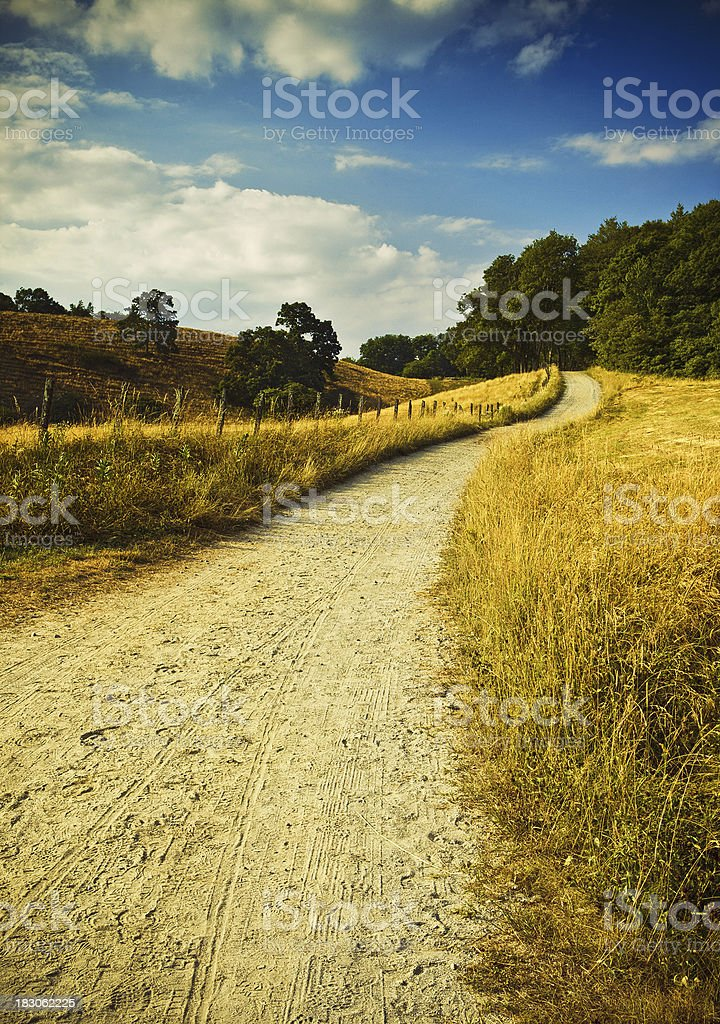 dirty road north carolina royalty-free stock photo