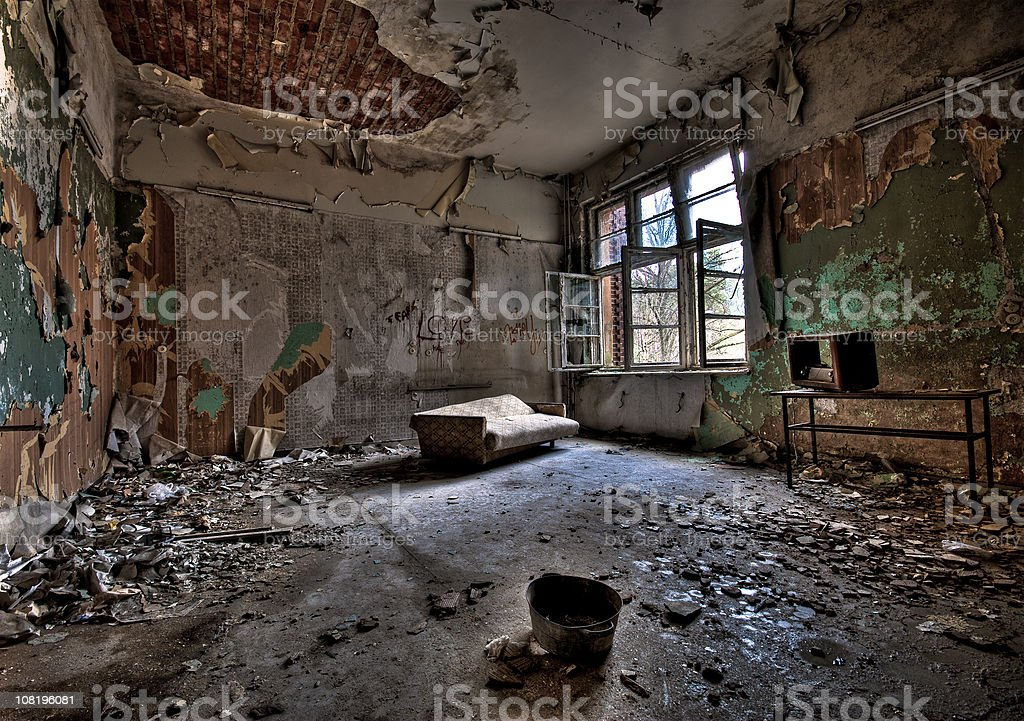 Dirty Room royalty-free stock photo
