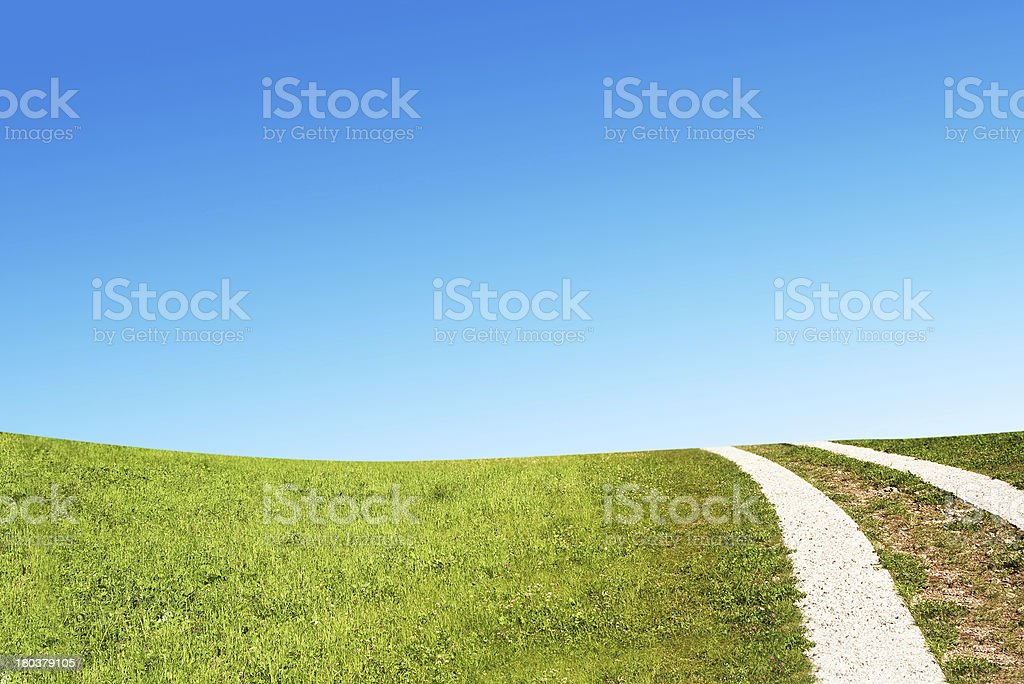 Dirty rural road in countryside royalty-free stock photo