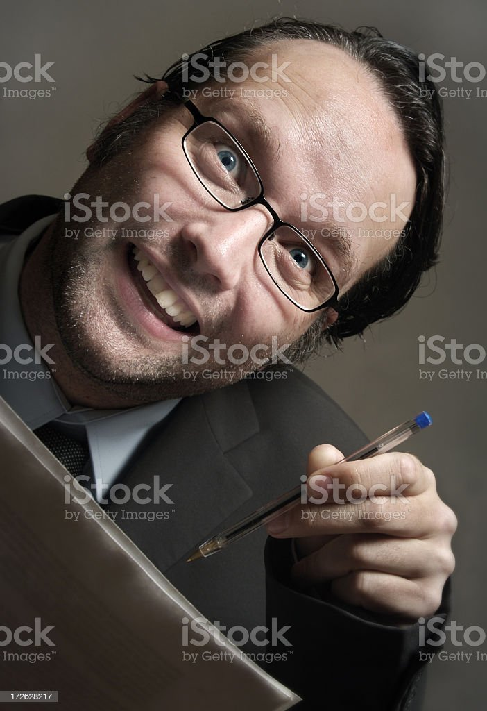 Dirty Salesman royalty-free stock photo