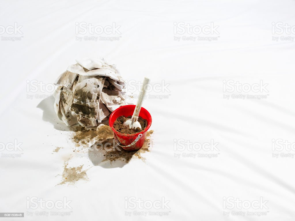 Dirty sheet stock photo
