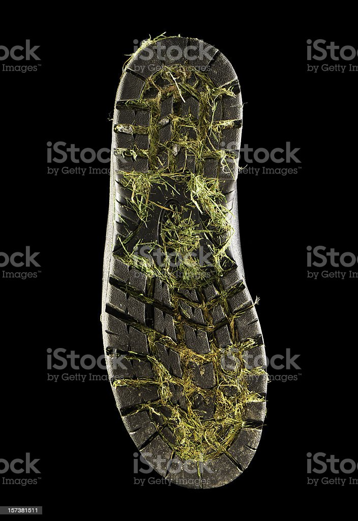 Dirty shoe stock photo
