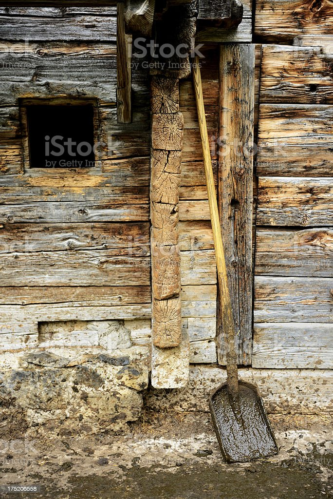 Dirty Shovel royalty-free stock photo