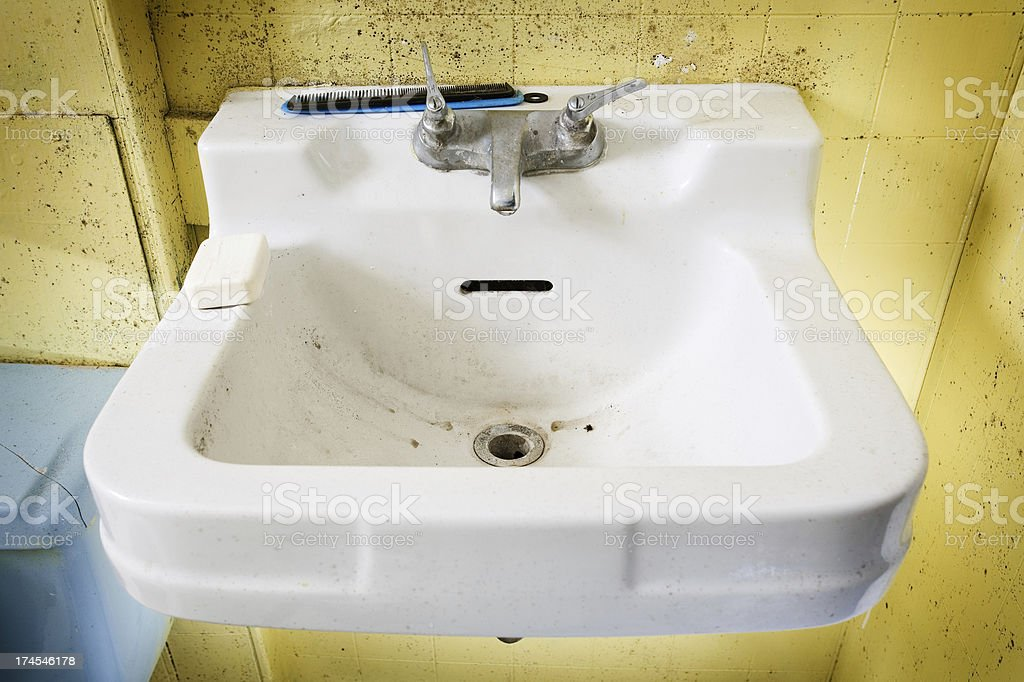 Dirty sink. royalty-free stock photo