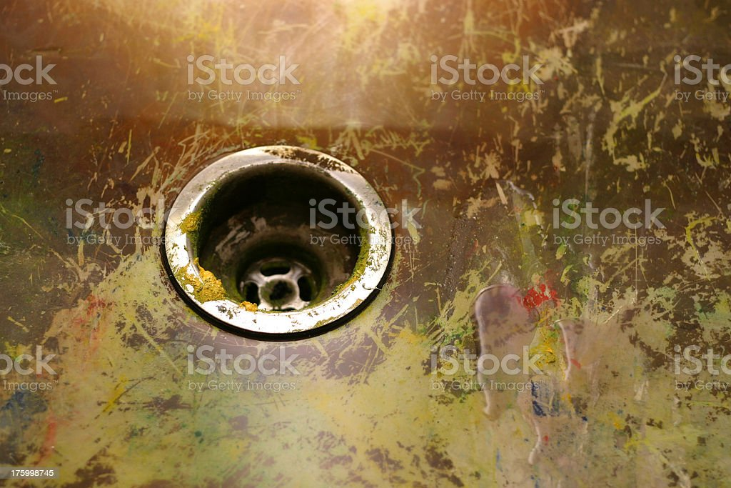 dirty sink royalty-free stock photo