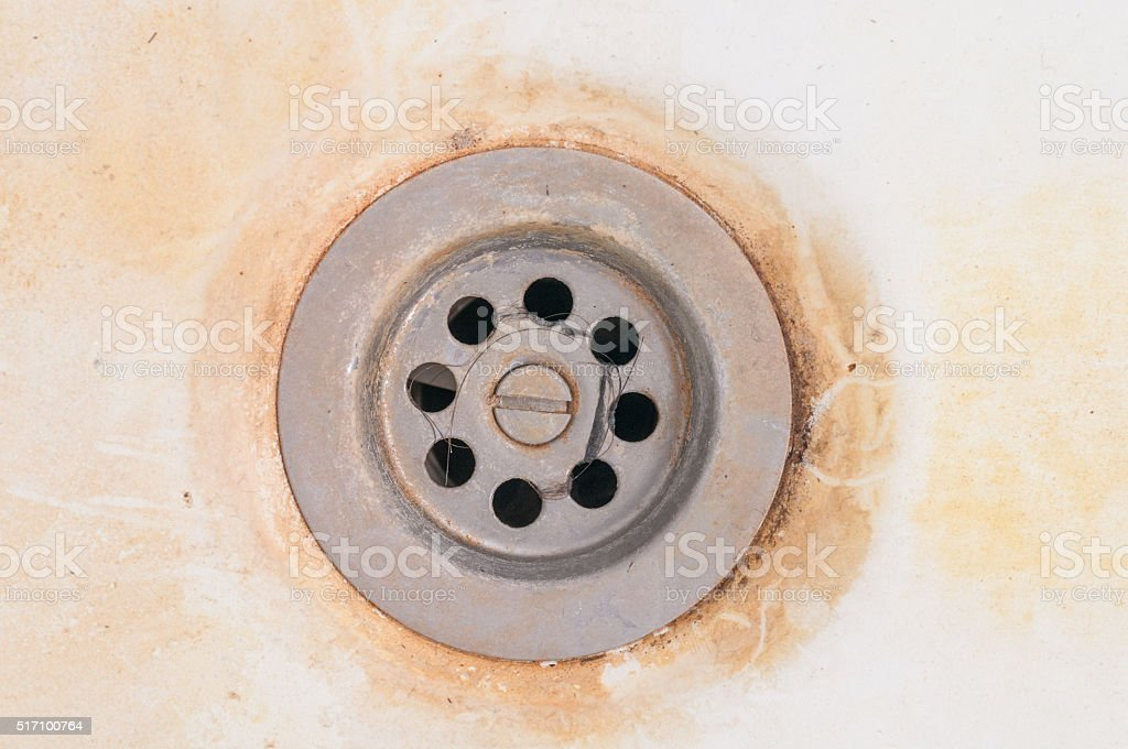 dirty sink stock photo