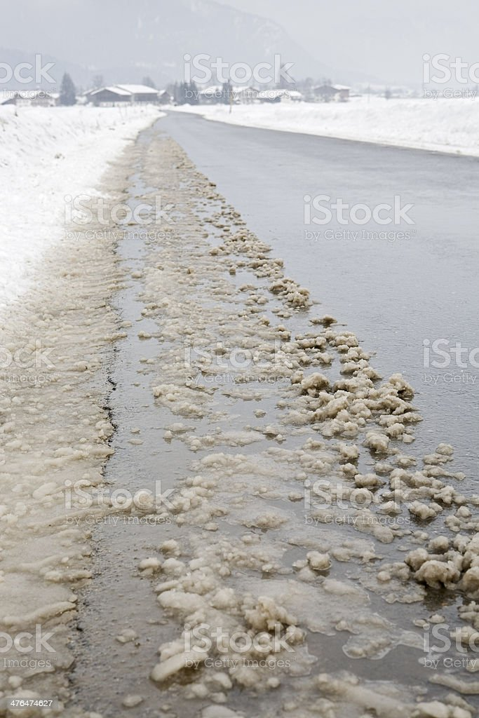 dirty slush stock photo