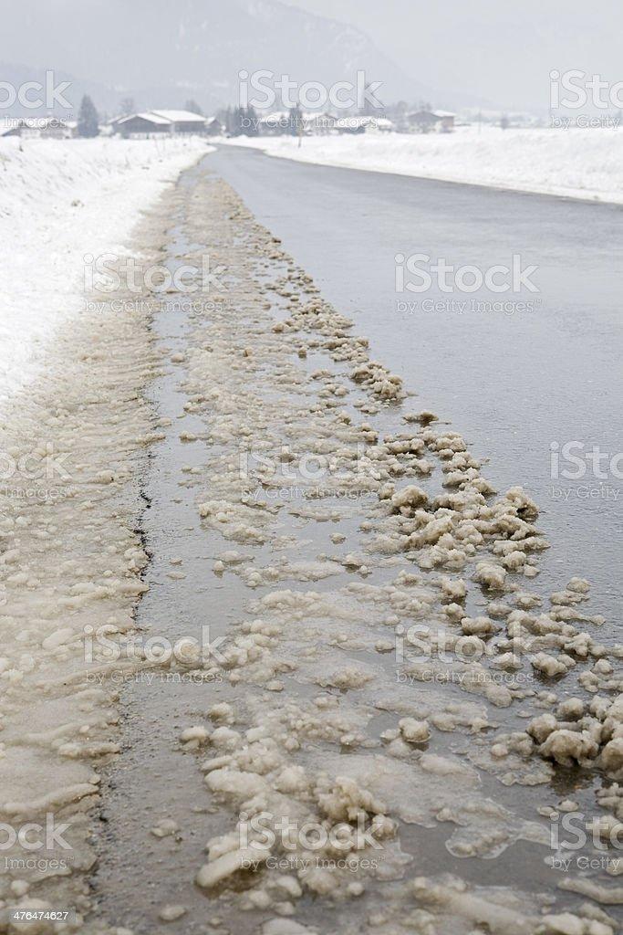dirty slush stock photo