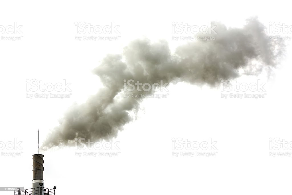 Dirty smoke isolated royalty-free stock photo