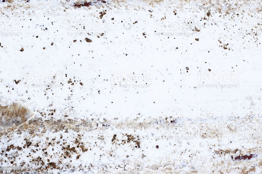 dirty snow and tracks royalty-free stock photo