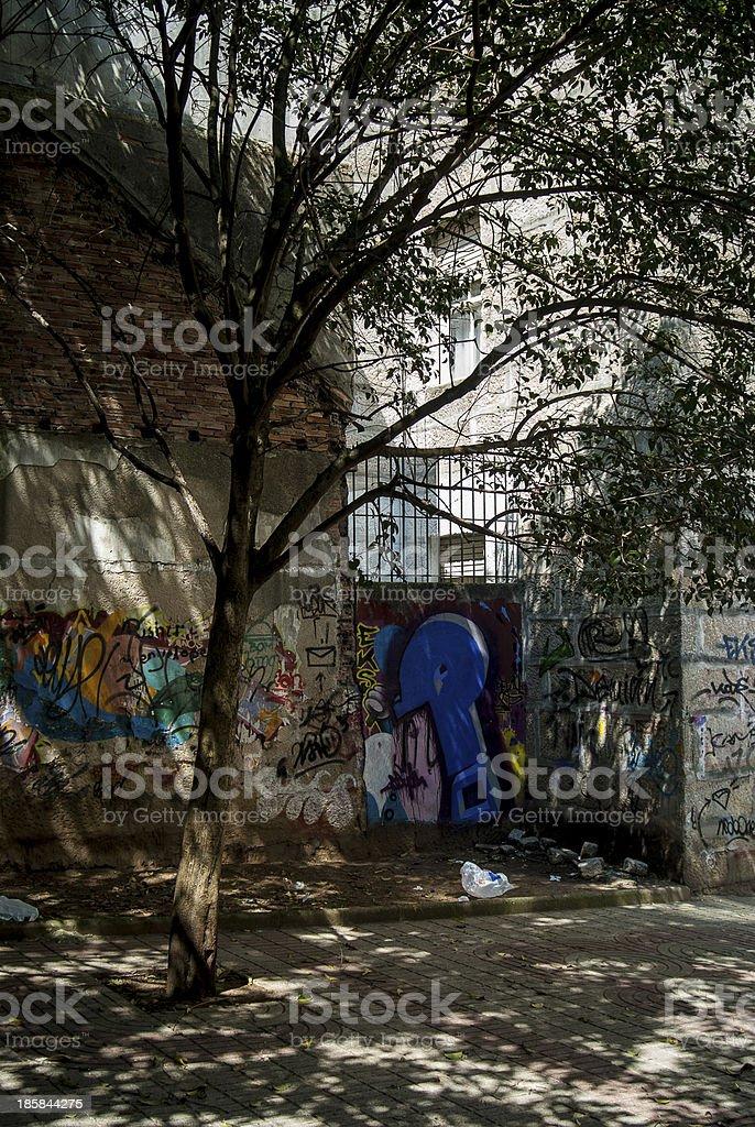 Dirty Street royalty-free stock photo