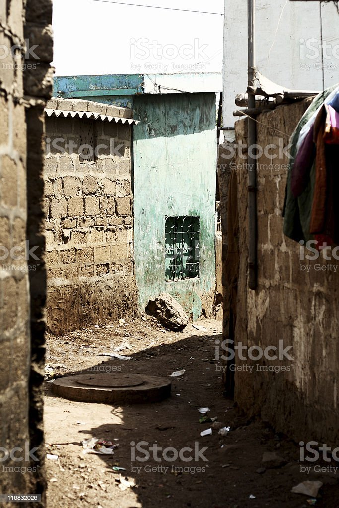 Dirty Third world Alley stock photo