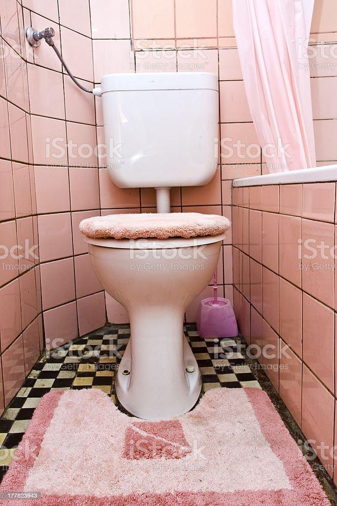 Dirty toilet stock photo