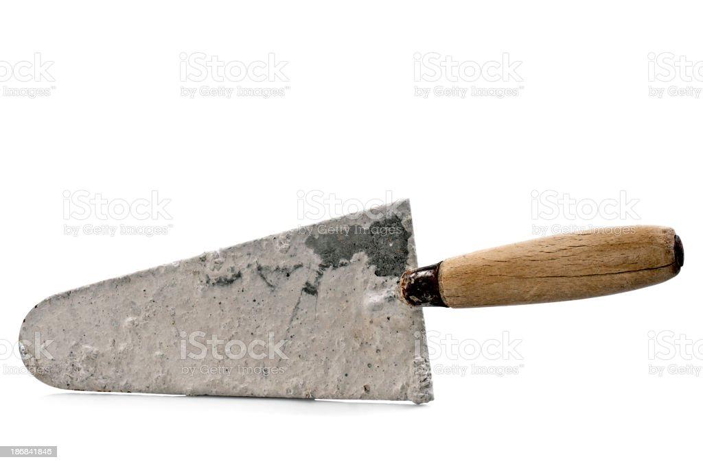 Dirty Trowel royalty-free stock photo