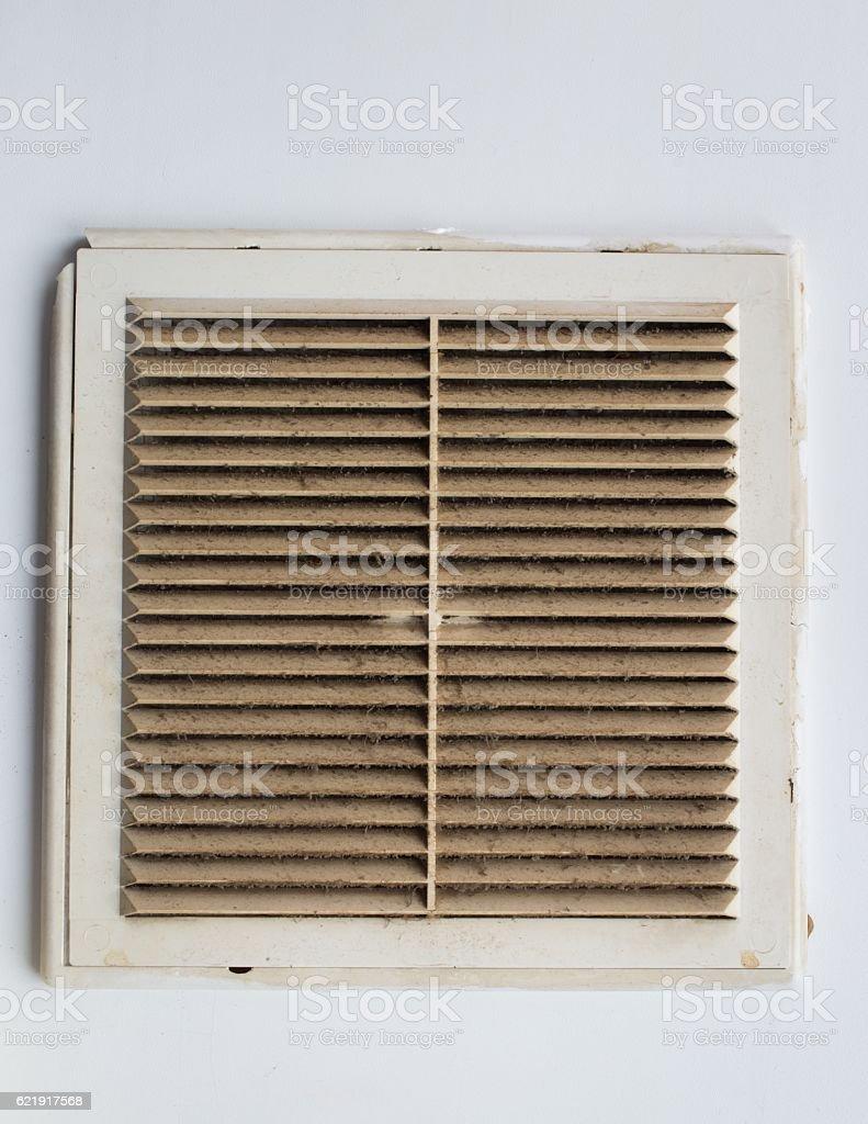 Dirty vent window stock photo