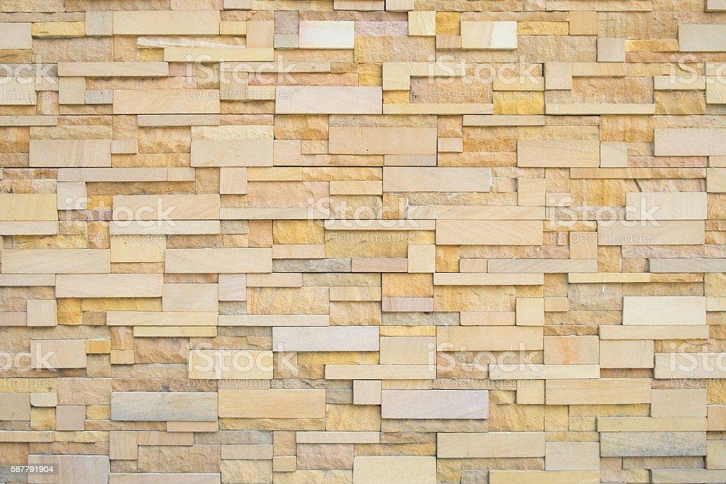 dirty vintage brick stone Cladding wall stock photo