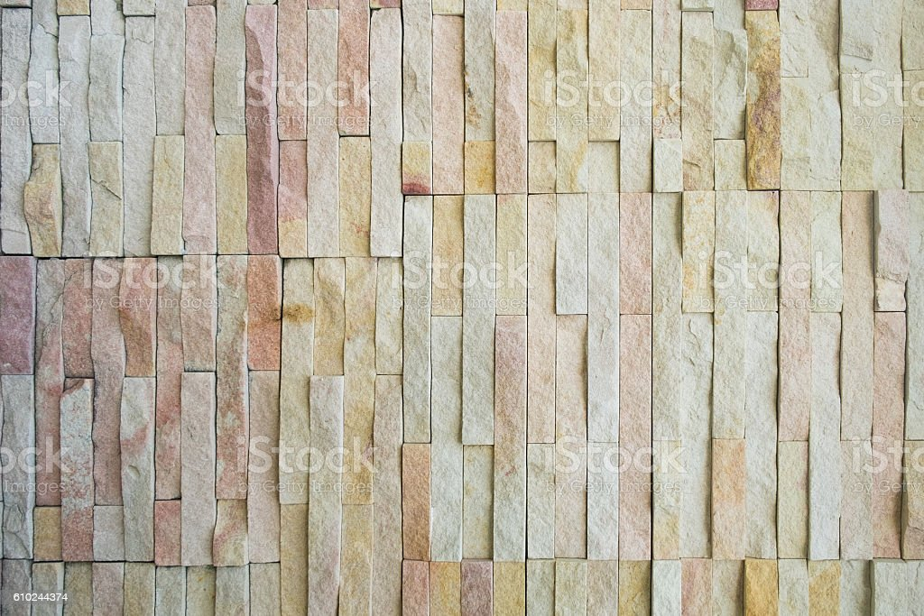 dirty vintage brick stone Cladding wall stock photo