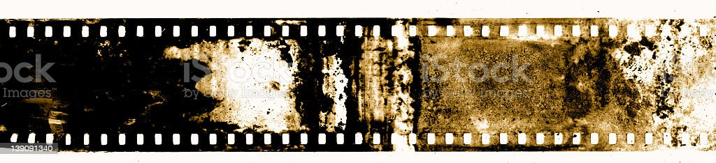 Dirty Vintage Film on a White Background royalty-free stock photo