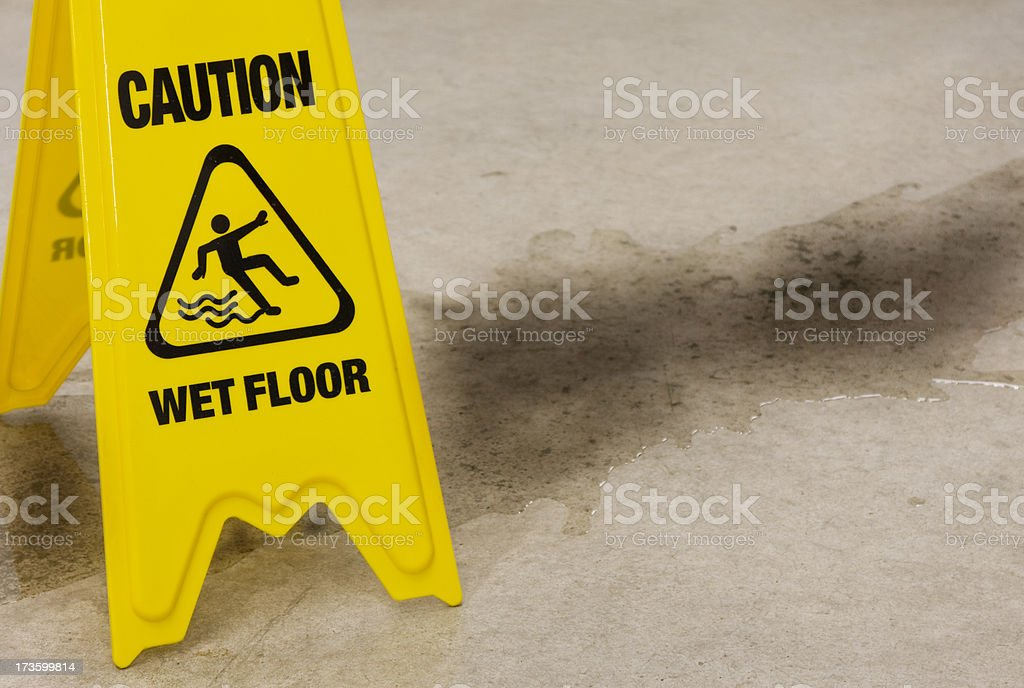 Dirty Water Spill stock photo