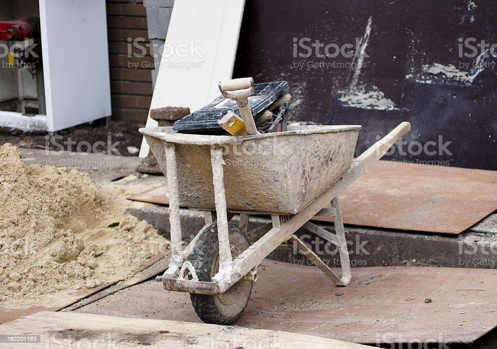 Dirty Schubkarre mit Tools Lizenzfreies stock-foto