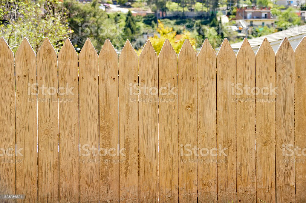 dirty wooden fence stock photo
