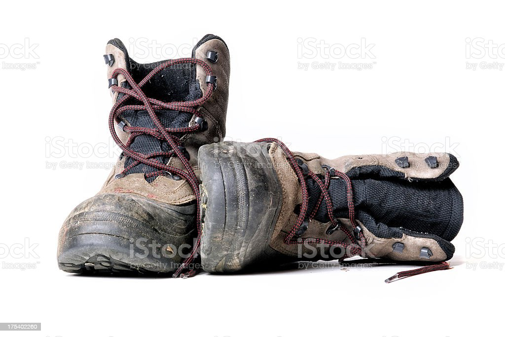 Dirty Work Boots stock photo