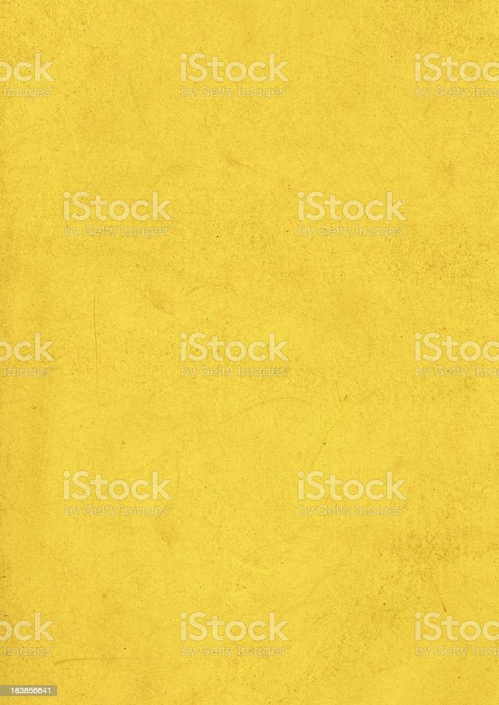 Dirty Yellow Paper Texture royalty-free stock photo