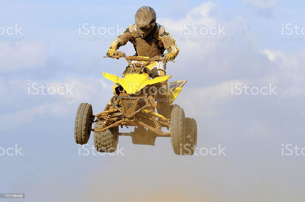Dirty Yellow Quad royalty-free stock photo