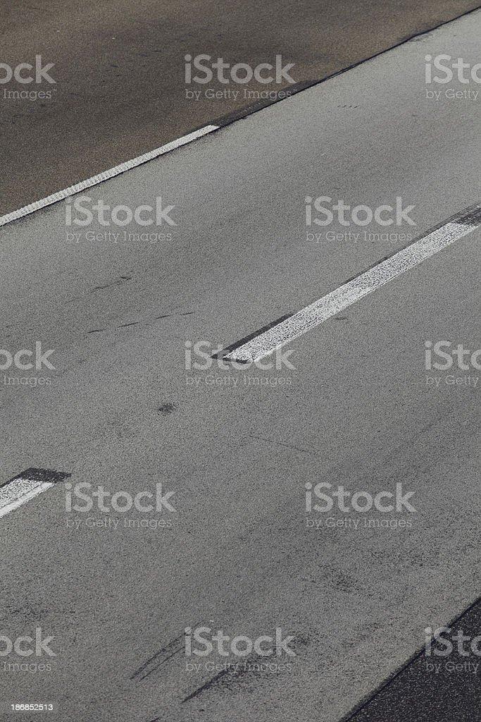Diryt road wih skid tracks stock photo