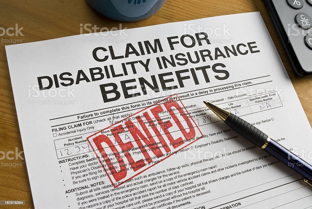 Disability Benefits Form royalty-free stock photo