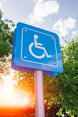 Disability Car Park, Parking for disability persons.