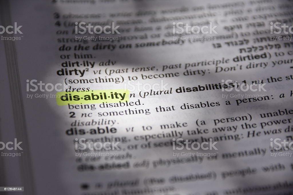 Disability stock photo
