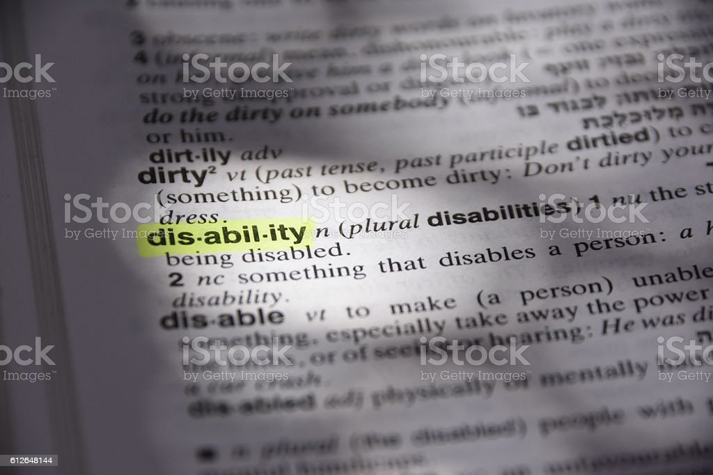 Disability stock photo