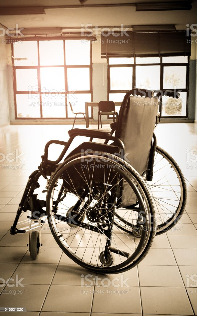 Disable people concept stock photo