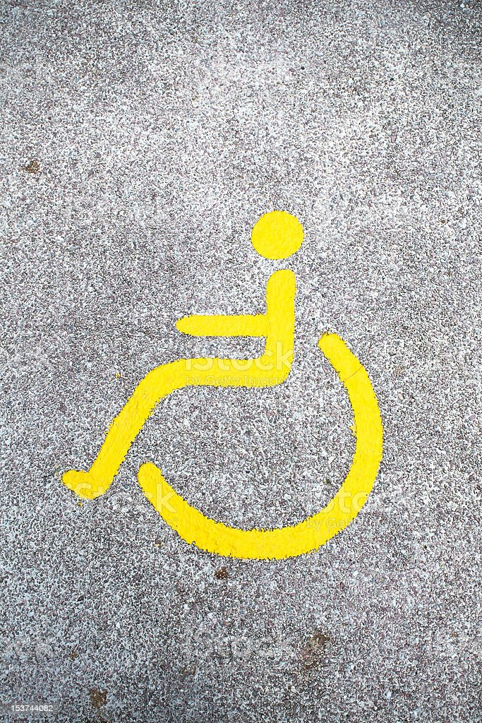 Disable sign on the road royalty-free stock photo