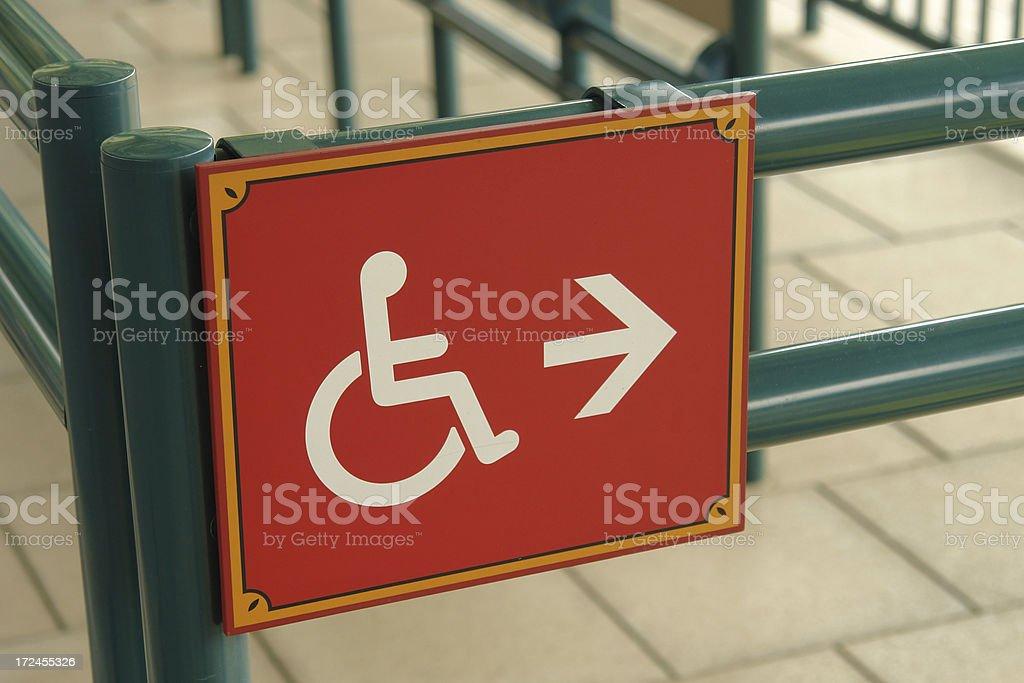 Disable Signage stock photo