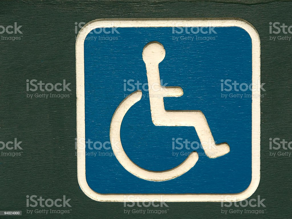 Disabled access stock photo