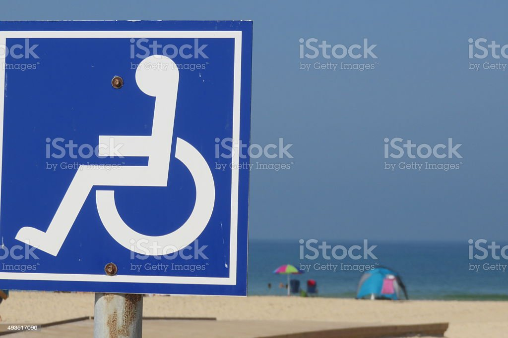 Disabled access to the beach stock photo