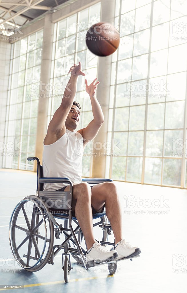 Disabled basketball player stock photo