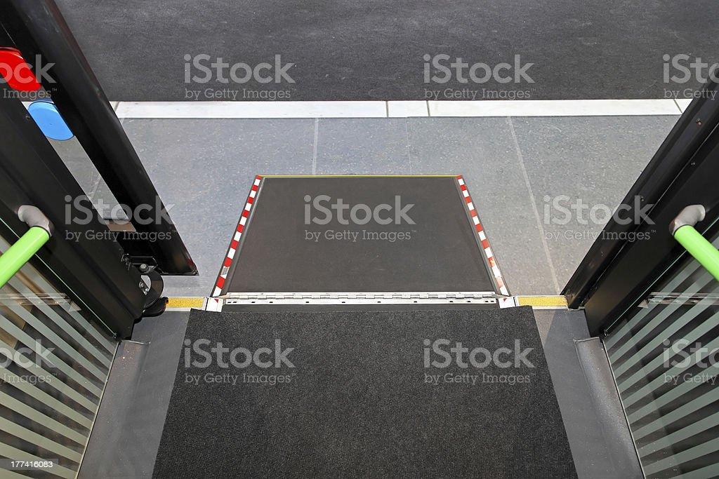 Disabled bus ramp stock photo